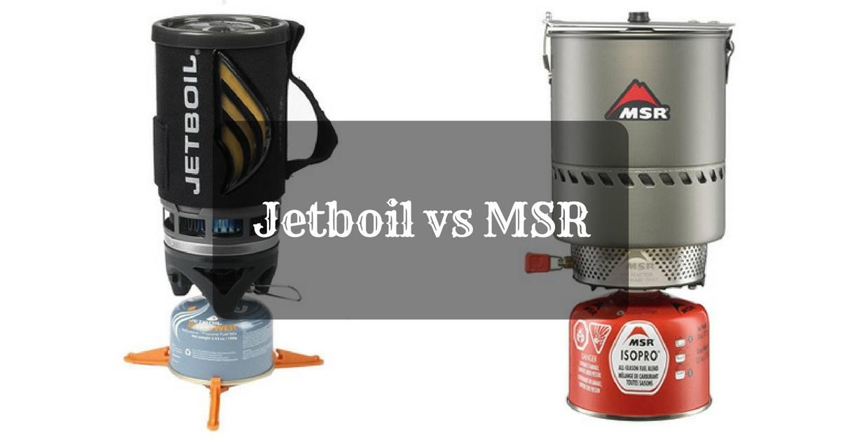 Jetboil vs MSR