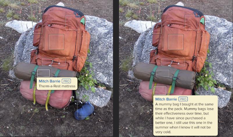 backpack bag sleeping pack bottom external frame simple mats strapped steps